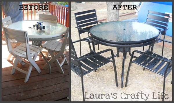 Before And After Patio Table