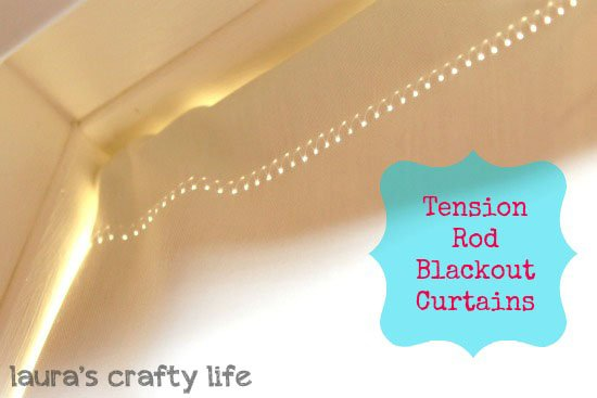 Tension Rod Blackout Curtains Laura S Crafty Life