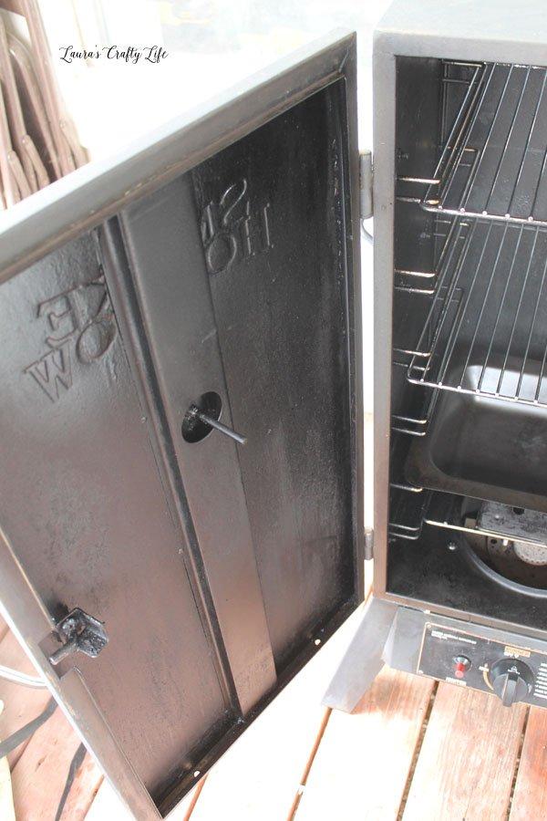 Inside Of Smoker Door   After