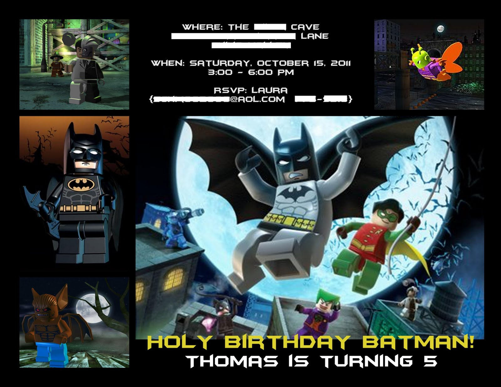 LEGO Batman Party - Laura's Crafty Life