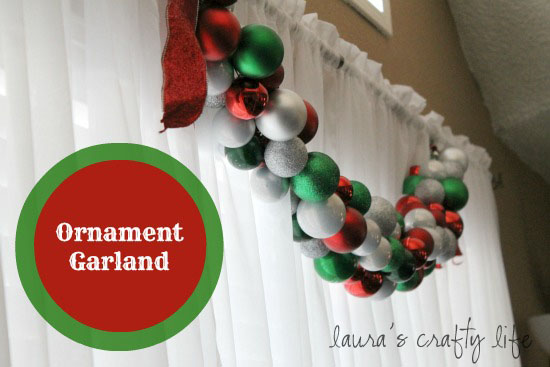 Ornament Garland - Laura's Crafty Life